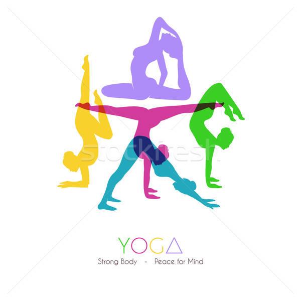 Femmes yoga femme fille main corps Photo stock © anastasiya_popov