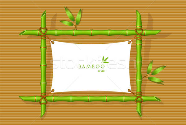 Background with green bamboo frame Stock photo © anastasiya_popov