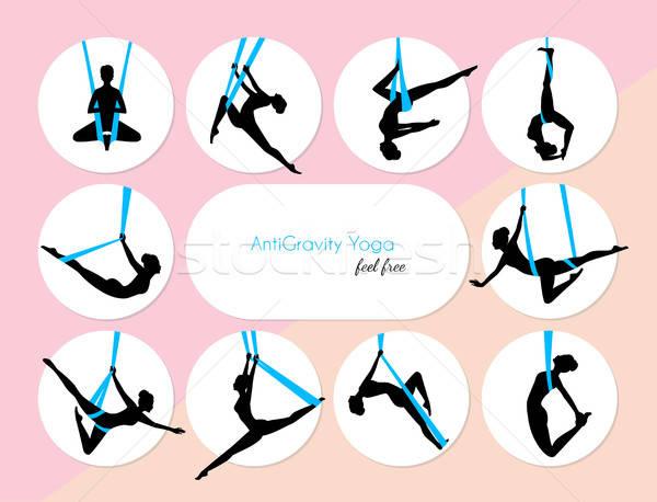10 yoga filles femme danse corps Photo stock © anastasiya_popov