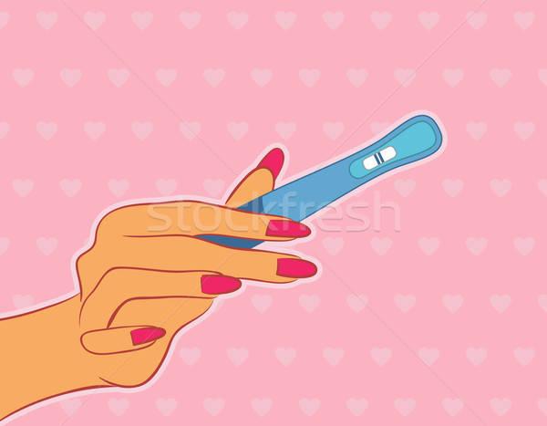 手 女性 中心 美 女性 妊娠 ストックフォト © anastasiya_popov