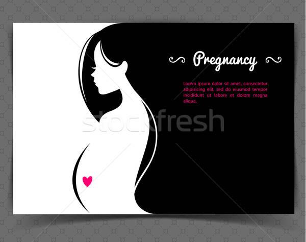 Hamile kadın bahar el sevmek vücut saç Stok fotoğraf © anastasiya_popov