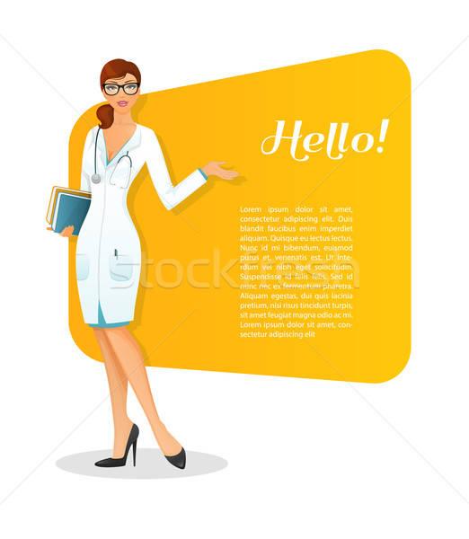 Doctor character woman image Stock photo © anastasiya_popov