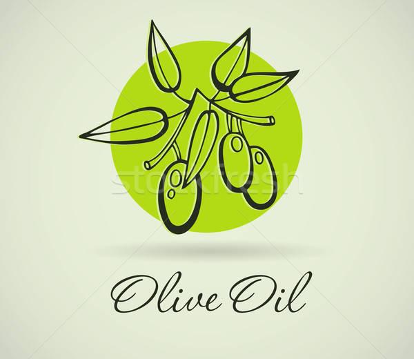 Hand-Drawing Olive Stock photo © anastasiya_popov