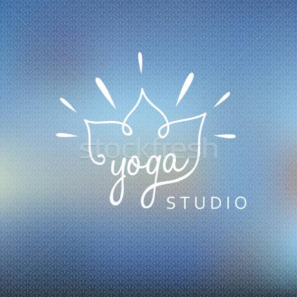 Blured background with yoga logo Stock photo © anastasiya_popov