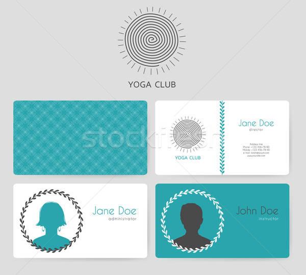 Logo yoga studio femme homme Photo stock © anastasiya_popov