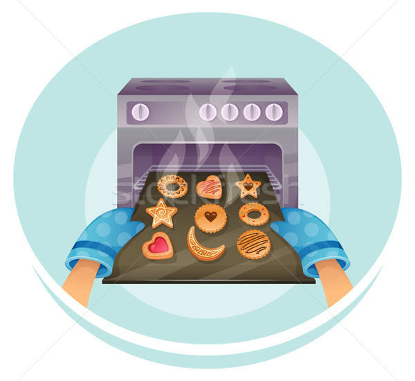 Stock photo: Cookies set
