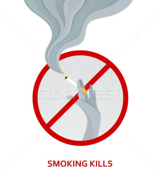 Sylwetka strony papierosów projektu sztuki Zdjęcia stock © anastasiya_popov