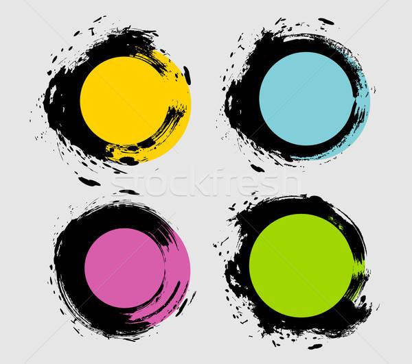 Plek ingesteld eps 10 abstract kunst Stockfoto © anastasiya_popov