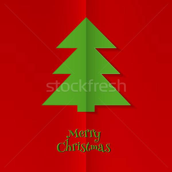 Streszczenie drzewo obraz papieru star Zdjęcia stock © anastasiya_popov