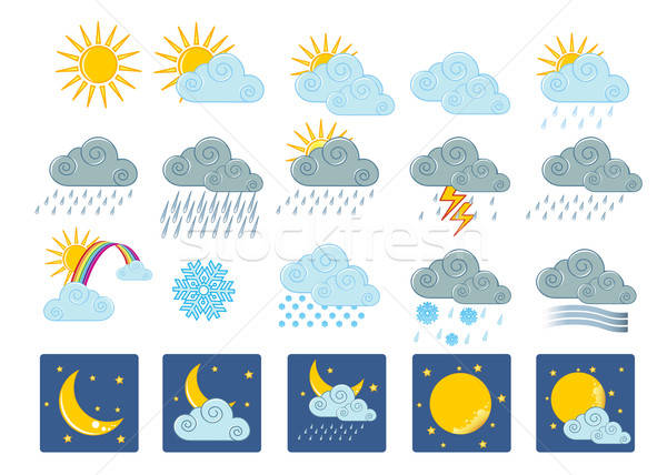 20 weather icons Stock photo © anastasiya_popov