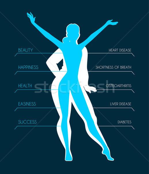 S'adapter femme silhouette fille mode Photo stock © anastasiya_popov