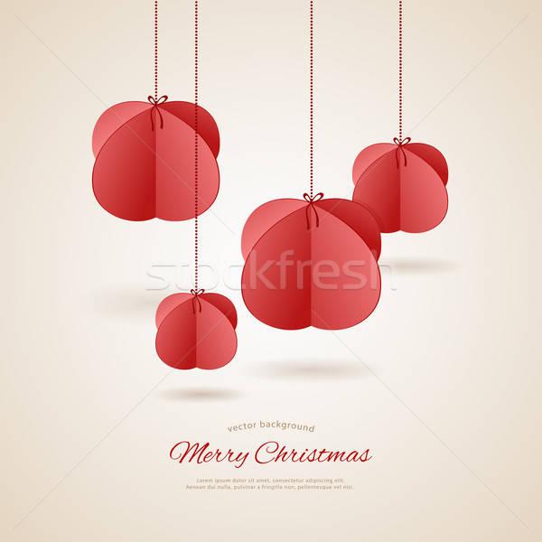 Stylized christmas balls Stock photo © anastasiya_popov