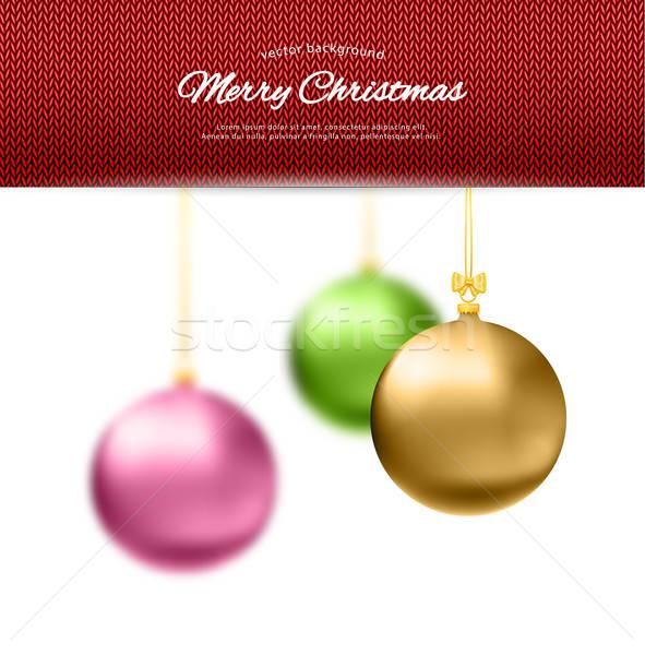 Christmas balls Stock photo © anastasiya_popov