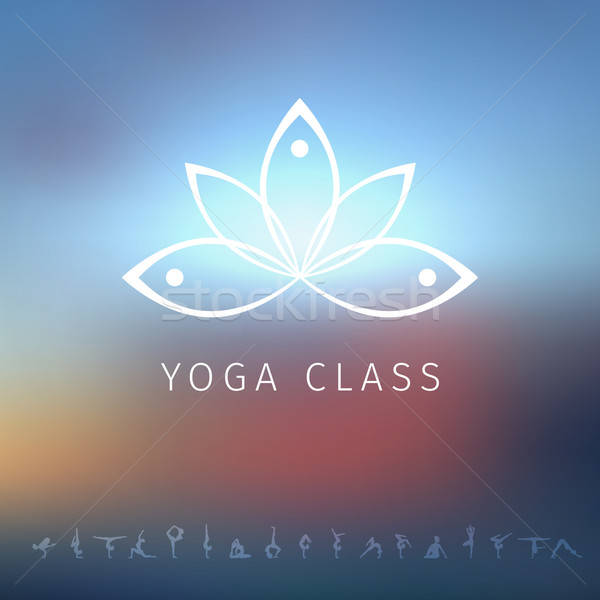 Logo yoga stüdyo iş güneş soyut Stok fotoğraf © anastasiya_popov