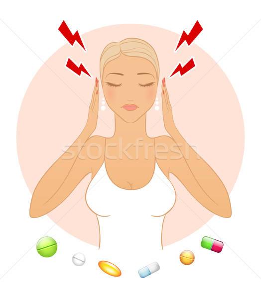 Woman with headache  Stock photo © anastasiya_popov