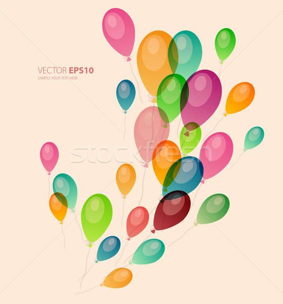 Renkli balonlar mutlu doğum günü uzay web Stok fotoğraf © anastasiya_popov