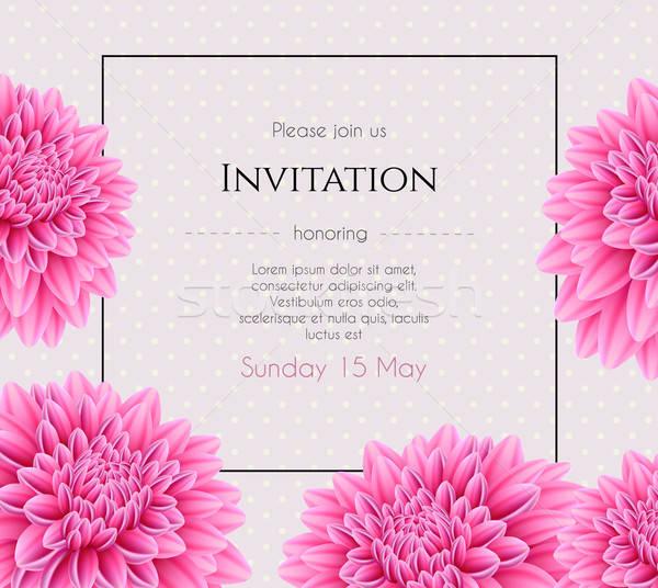Zaproszenie na ślub piękna kwiat wiosną ślub świetle Zdjęcia stock © anastasiya_popov