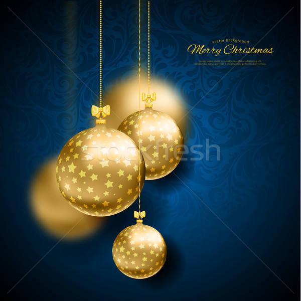 Natale felice design sfondo oro Foto d'archivio © anastasiya_popov