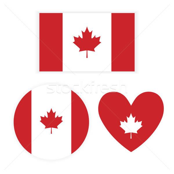 Zászló Kanada fehér üzlet internet üveg Stock fotó © anastasiya_popov