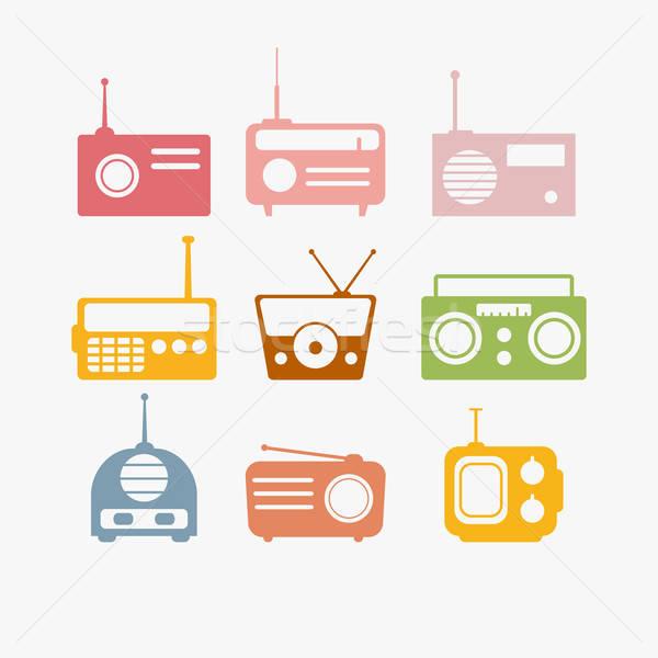 Radio isolated objects set Stock photo © anastasiya_popov