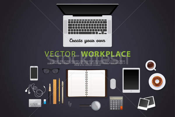 Workplace with isolated objects Stock photo © anastasiya_popov
