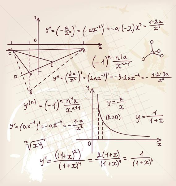Algebra doodle background Stock photo © anastasiya_popov