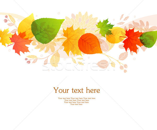 Stock photo: Vector illustration of Autumn leafs back