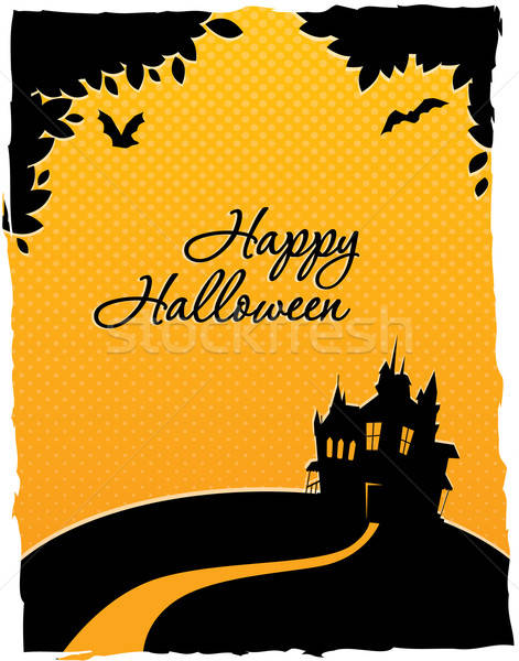 Happy halloween card with castle Stock photo © anastasiya_popov