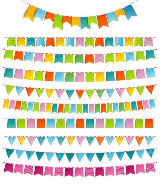 Bunting party color flags Stock photo © anastasiya_popov