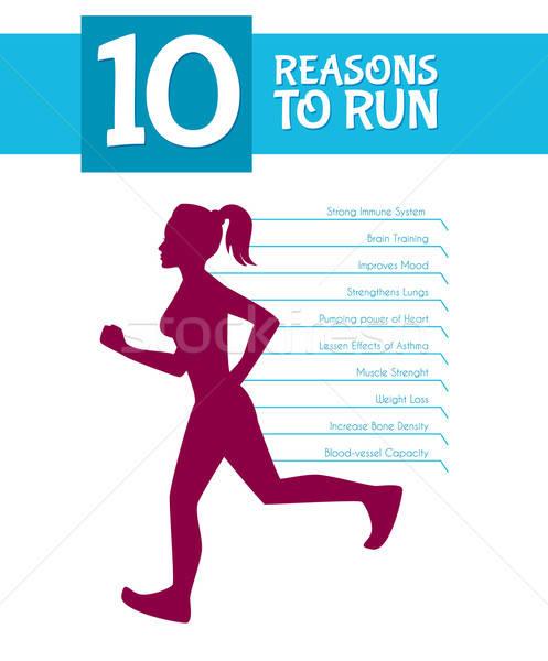 10 top reasons to run Stock photo © anastasiya_popov