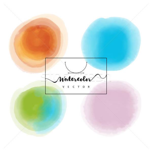 Main peint couleur pour aquarelle texture résumé fond Photo stock © anastasiya_popov