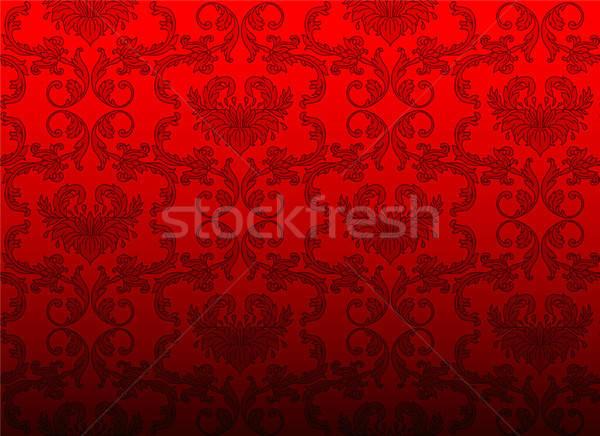 Damassé modèle rose nature beauté wallpaper Photo stock © anastasiya_popov