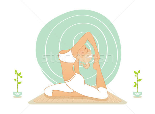 Beautiful woman doing yoga practice Stock photo © anastasiya_popov
