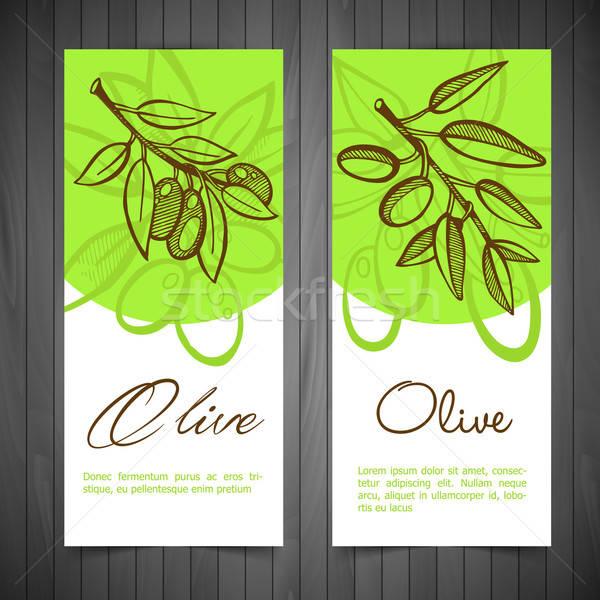 Hand-Drawing Olives Stock photo © anastasiya_popov