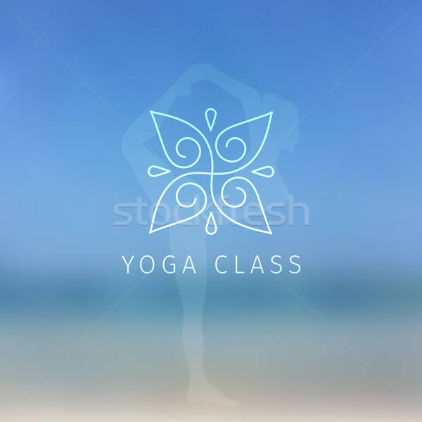 Blured background with yoga logo Stock photo © anastasiya_popov