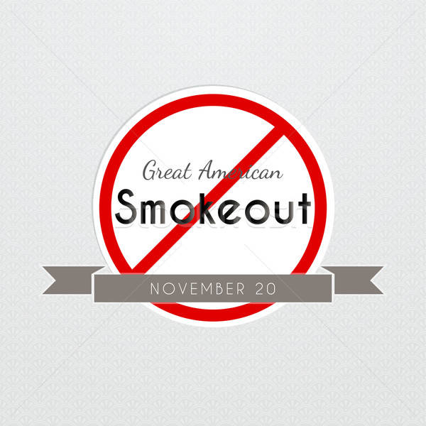 Graet American Smokeout poster Stock photo © anastasiya_popov