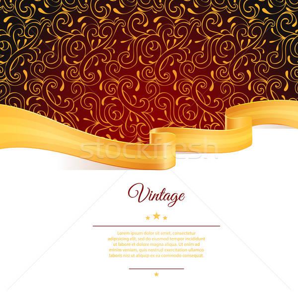 Foto stock: Oro · cinta · eps · 10 · resumen · cumpleanos
