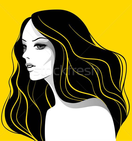 Belle femme visage beauté art été peinture Photo stock © anastasiya_popov