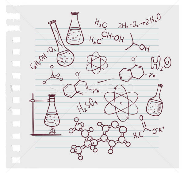 Hand draw chemistry on background Stock photo © anastasiya_popov