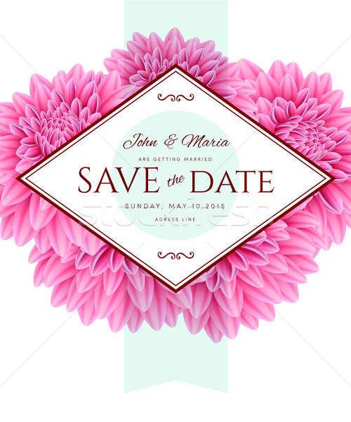 Modello carta salvare data primavera wedding Foto d'archivio © anastasiya_popov