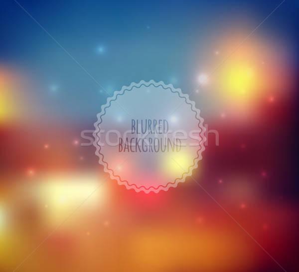 Zamazany web design szablon charakter krajobraz przestrzeni Zdjęcia stock © anastasiya_popov