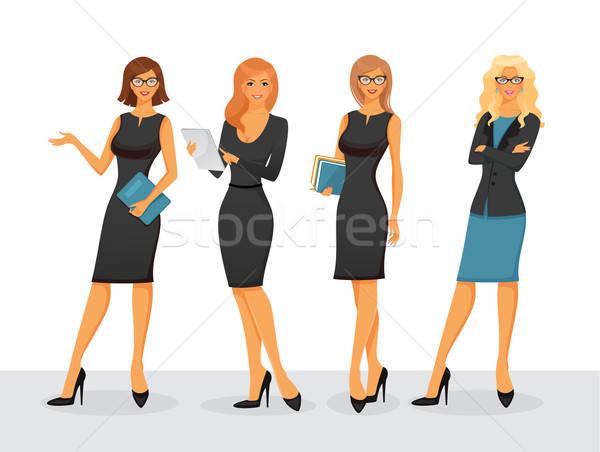 Işkadını iş bilgisayar kadın arka plan Stok fotoğraf © anastasiya_popov