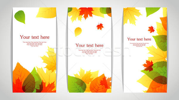 Stock photo: Vector illustration of Autumn leafs back