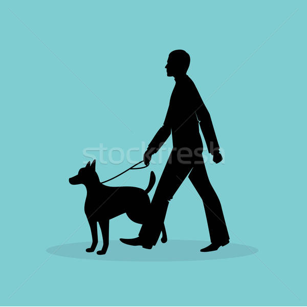 Blind man silhouette image Stock photo © anastasiya_popov