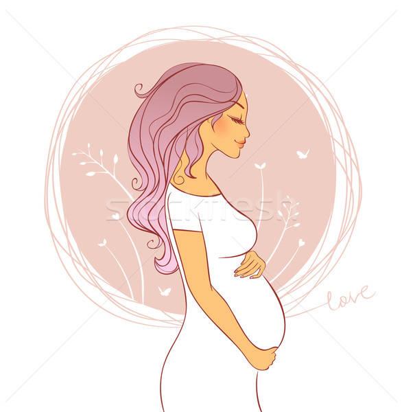 Красивые картинки беременных девушек нарисованные 78