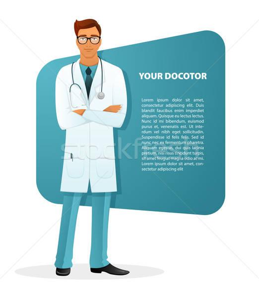 Doctor character man image Stock photo © anastasiya_popov