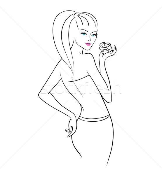 Kız eps 10 kadın dizayn Stok fotoğraf © anastasiya_popov