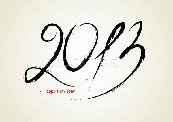 Boldog új évet 2013 boldog terv háttér felirat Stock fotó © anastasiya_popov