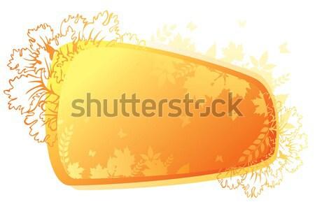 Autumn leafs back Stock photo © anastasiya_popov