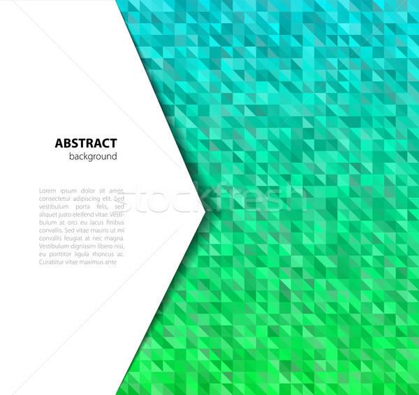 三角形 eps 10 抽象的な 青 インテリア ストックフォト © anastasiya_popov